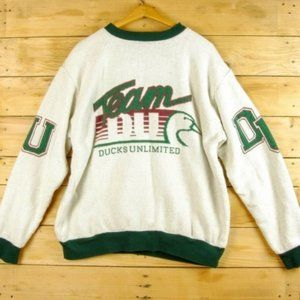 Ducks Unlimited Spellout Logo Sweatshirt- VTG 90s